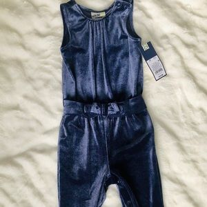 New with tags 2T velour jumpsuit by Genuine Kids